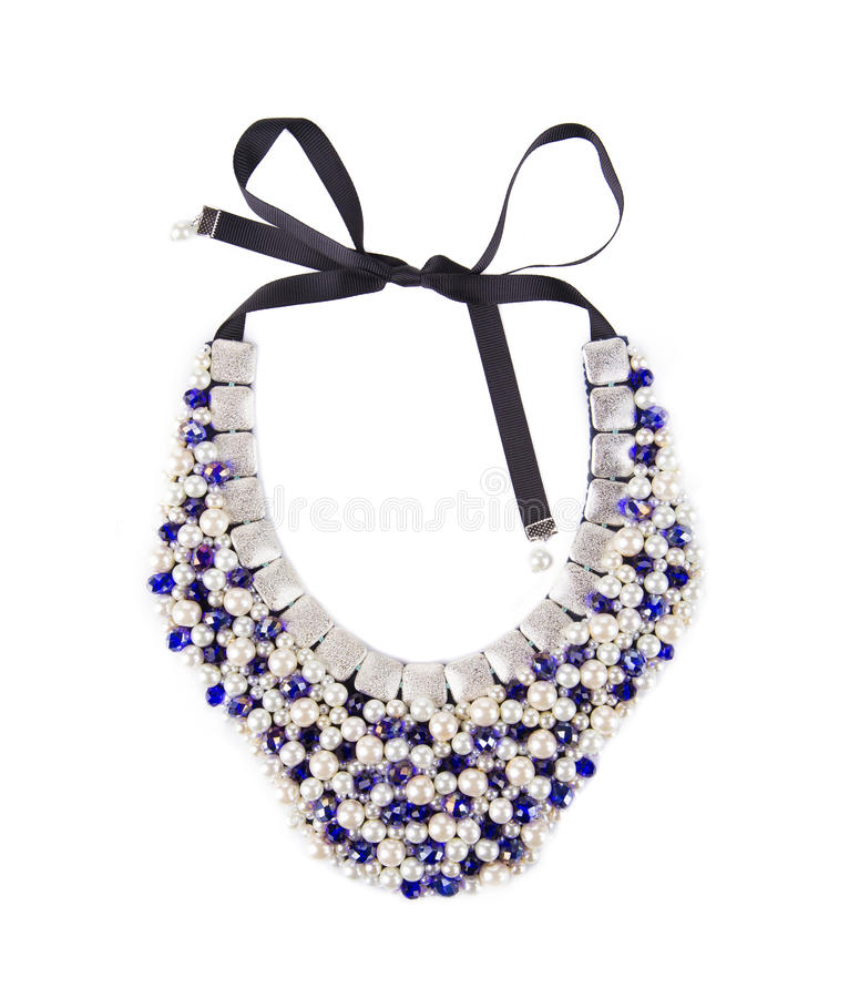 De mooie Halsband van de Parel stock foto
