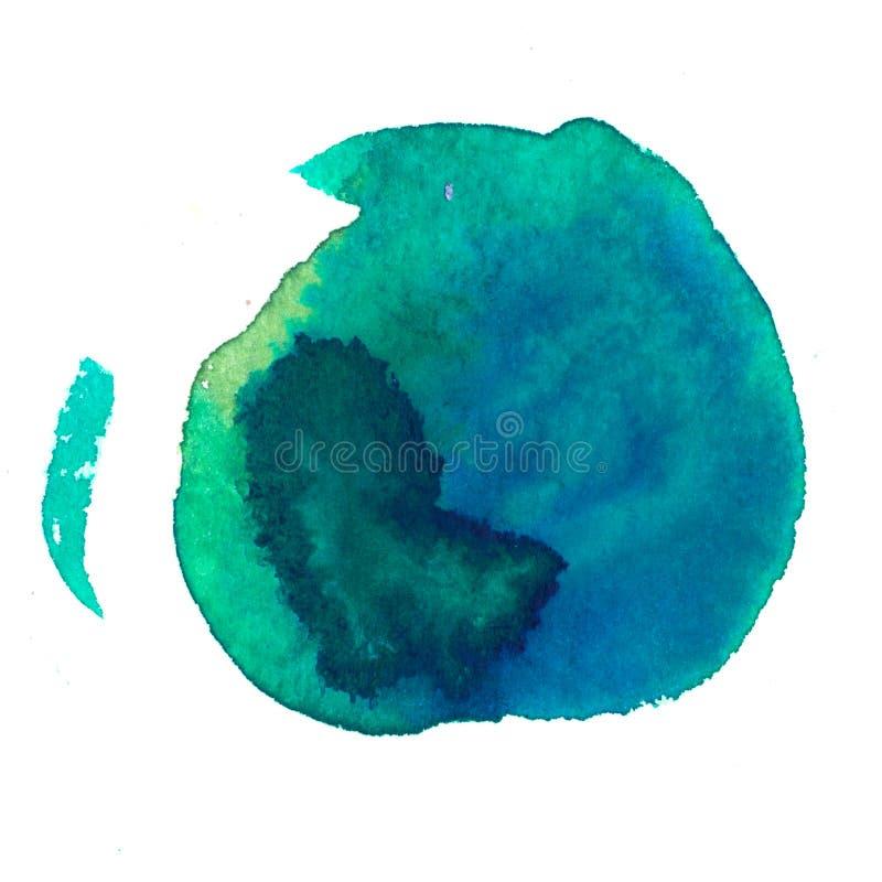 De mooie hand getrokken abstracte achtergrond van de waterverfvlek Kunstwerk het schilderen stock illustratie