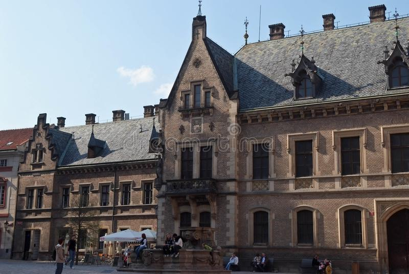 De mooie historische bouw Praag, Tsjechische Republiek royalty-vrije stock fotografie
