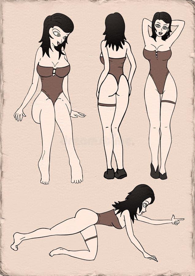 De mooie Illustratie van de Vrouw vector illustratie