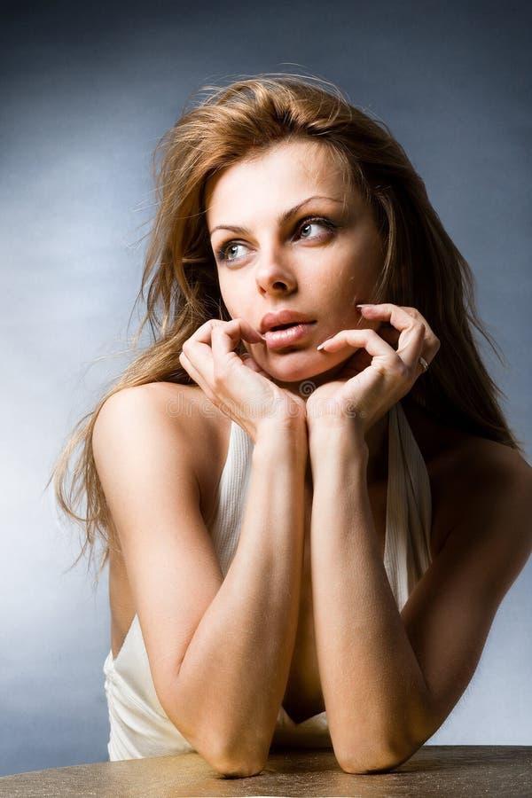 De mooie jonge vrouw van het portret stock afbeeldingen