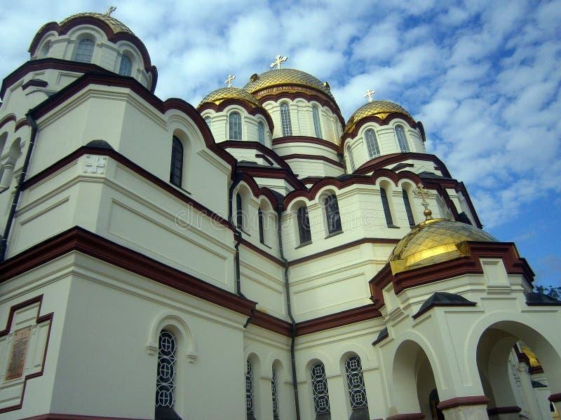 De mooie Kathedraal in Abchazië stock fotografie