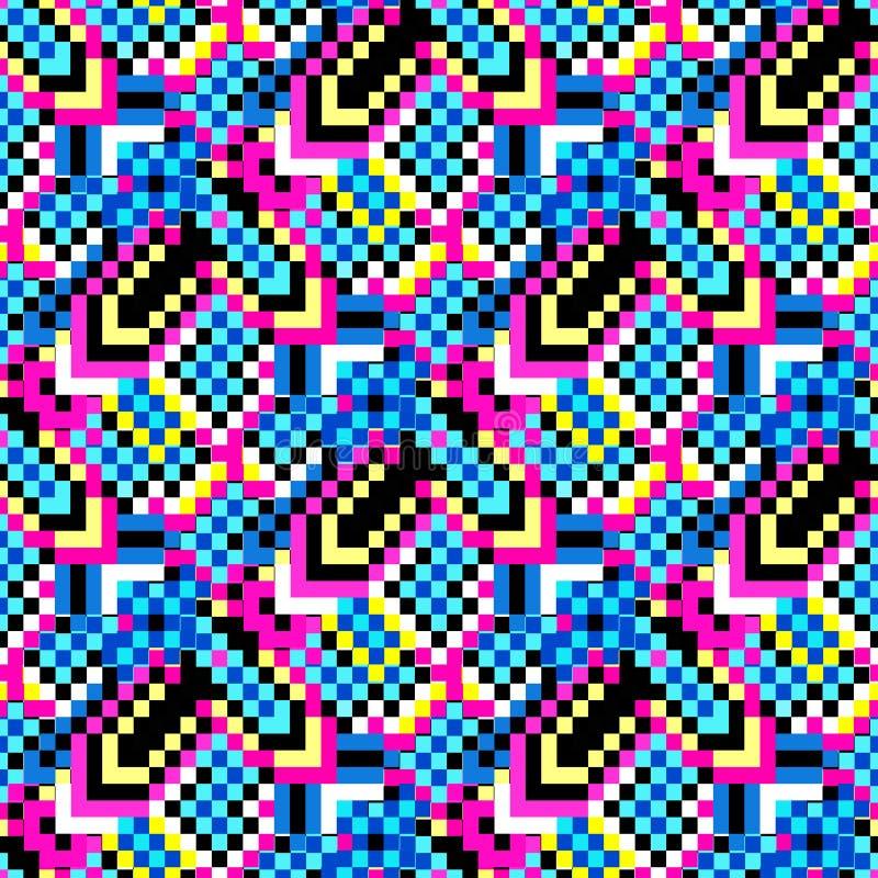 De mooie kleine gekleurde veelhoeken vatten naadloos geometrisch patroon samen royalty-vrije illustratie