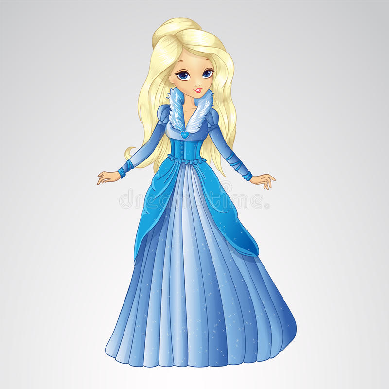 De mooie Koningin van de Blondesneeuw stock illustratie