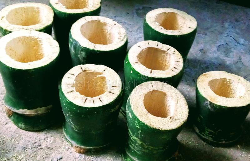 De mooie kunst van Ranchi van bamboe stock afbeeldingen