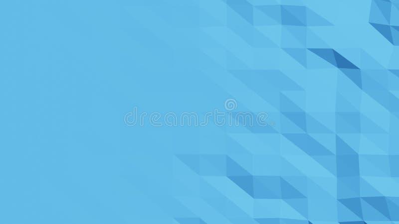 De mooie Lage Polyoppervlakte Morphing in Abstracte 3d geeft terug Naadloze Samenvatting Als achtergrond - illustratie royalty-vrije illustratie