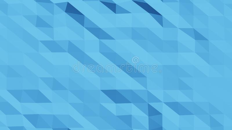 De mooie Lage Polyoppervlakte Morphing in Abstracte 3d geeft terug Naadloze Samenvatting Als achtergrond - illustratie stock illustratie