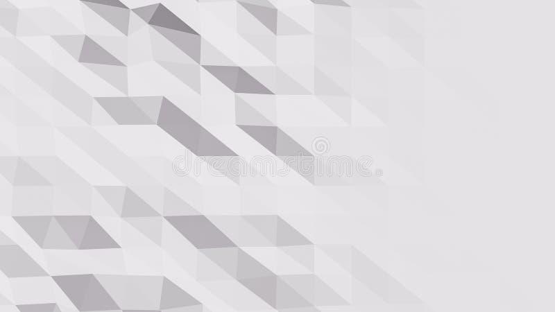 De mooie Lage Polyoppervlakte Morphing in Abstracte 3d geeft terug Naadloze Samenvatting Als achtergrond - illustratie vector illustratie