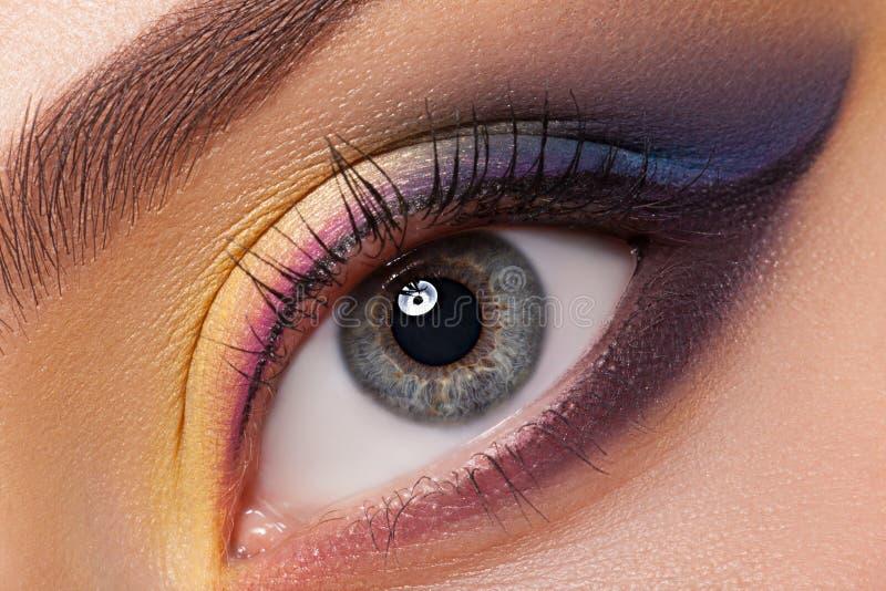 De mooie Make-up van het Oog stock foto's