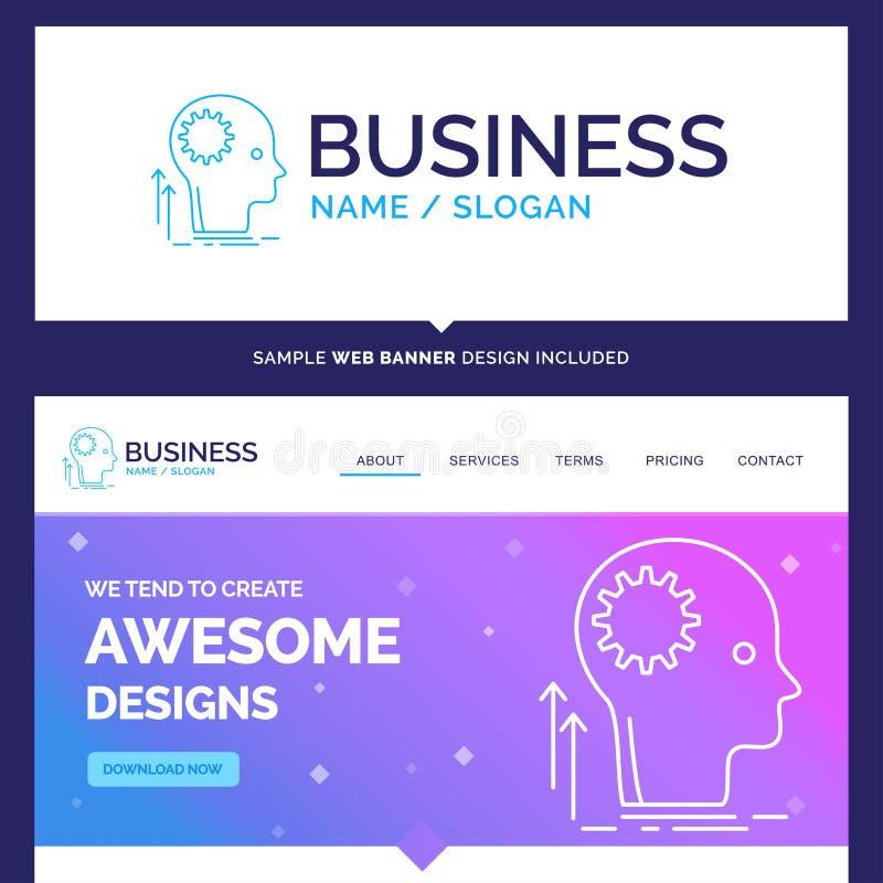 De mooie Mening van de Bedrijfsconceptenmerknaam, Creatief, het denken stock illustratie