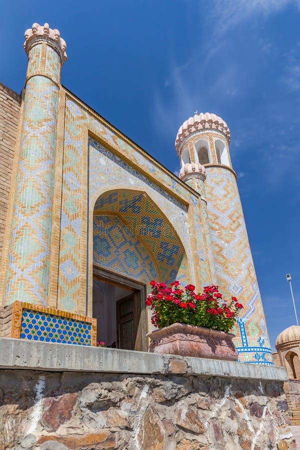 De mooie Moskee hazrat-Hizr in Samarkand, Oezbekistan royalty-vrije stock foto's