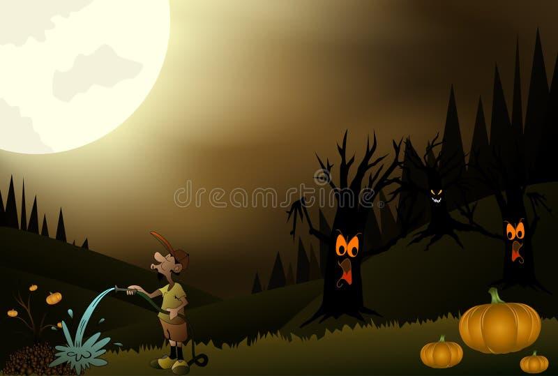 De mooie Nacht van Halloween stock illustratie