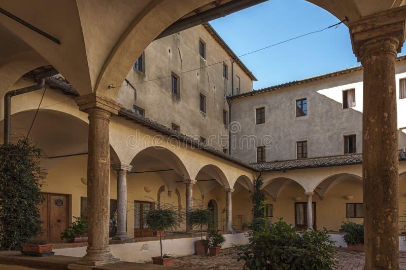 De mooie oude en middeleeuwse stad van Pienza, Val D ` Orcia, Toscanië royalty-vrije stock foto