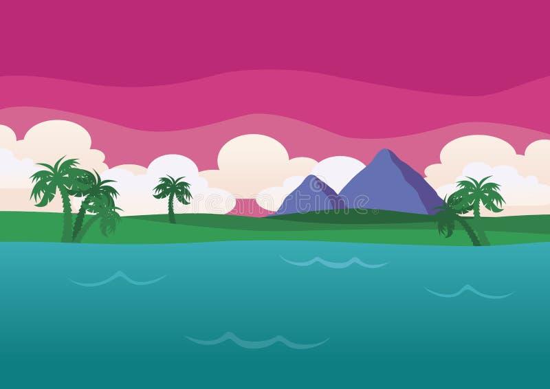 De mooie Plaats van de Vakantie bij Schemer royalty-vrije stock afbeelding