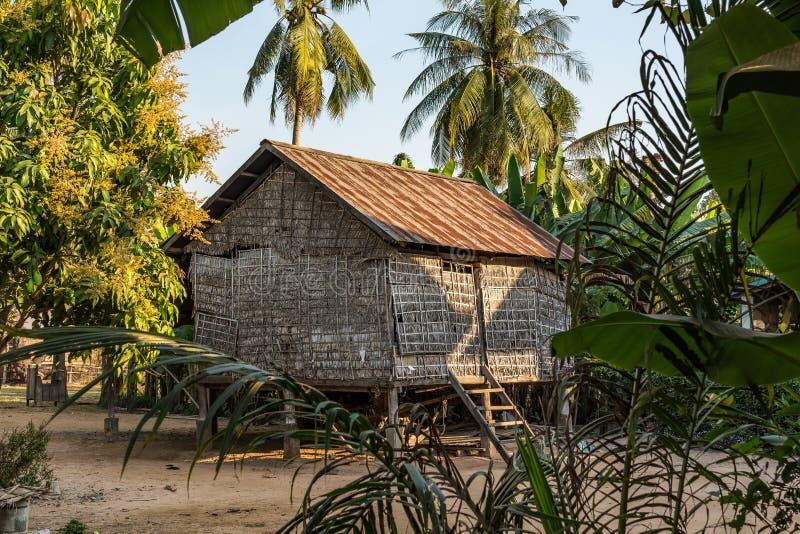 De mooie Plattelandsreis in tropisch platteland, Siem oogst, Kambodja royalty-vrije stock foto's