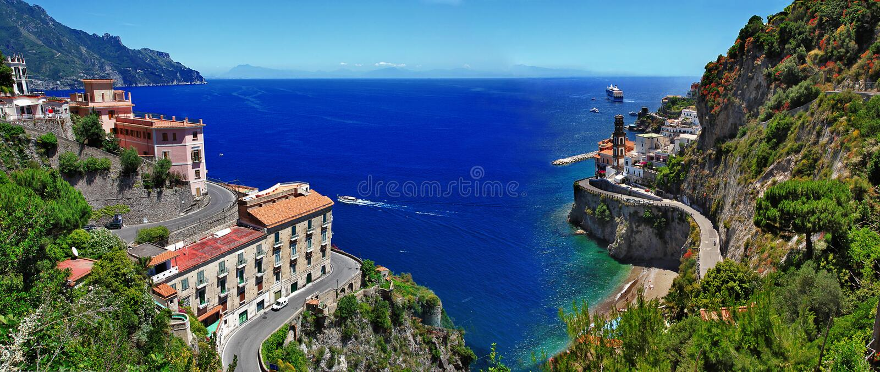De mooie reeks van Italië - Atrani royalty-vrije stock fotografie