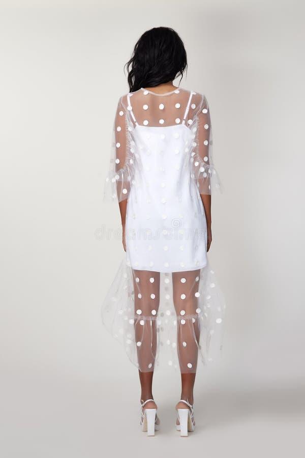 De mooie sexy van de de slijtagemanier van de vrouwenmake-up de zomerinzameling kleedt het toevallige van de het bureaukleding va royalty-vrije stock afbeelding
