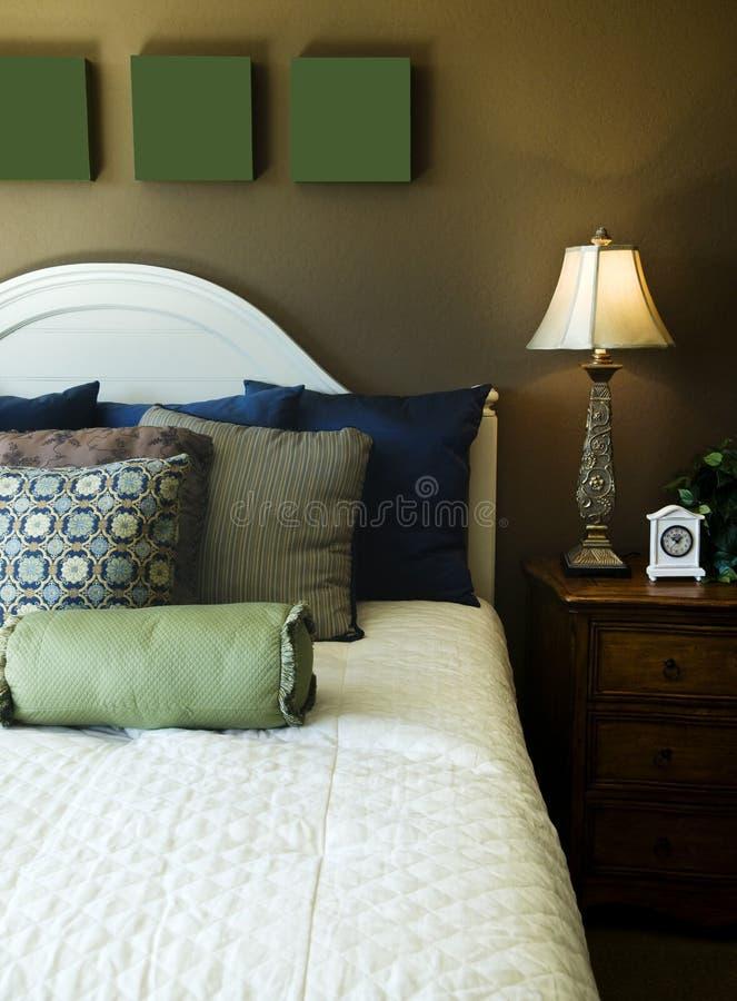 De mooie Slaapkamer van het Huis of van het Hotel stock foto's