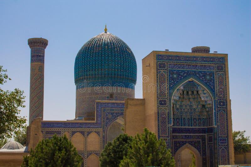 De mooie stad van Oezbekistan van de architecturale monumenten van Samarkand en van Boukhara royalty-vrije stock afbeeldingen