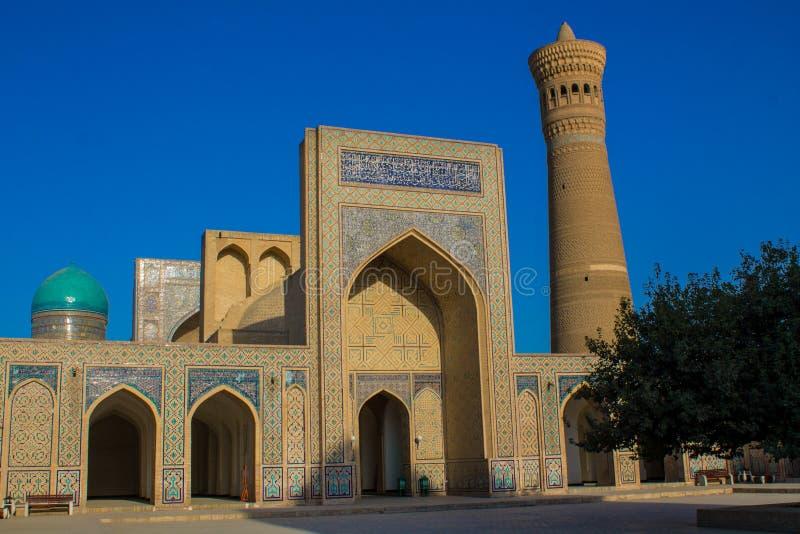 De mooie stad van Oezbekistan van de architecturale monumenten van Samarkand en van Boukhara stock fotografie