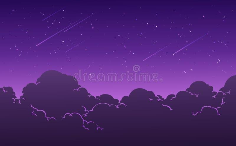De mooie sterrige achtergrond van de nachthemel Vector illustratie vector illustratie