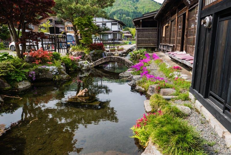 De mooie tuin shirakawa-gaat binnen royalty-vrije stock foto