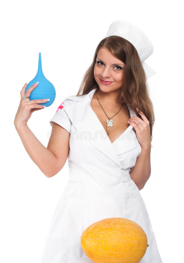 De mooie verpleegster stock afbeeldingen