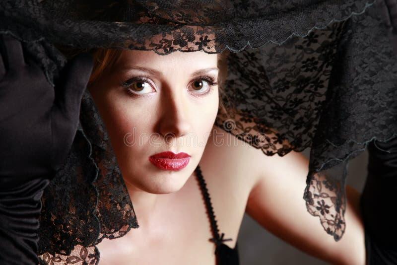 De mooie vrouw stock fotografie