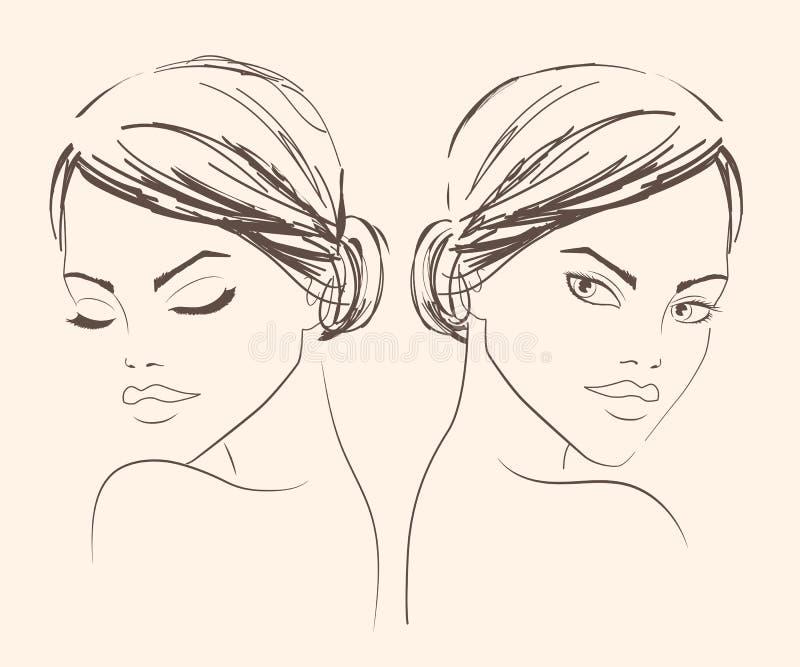 De mooie vrouw van de manier vector illustratie