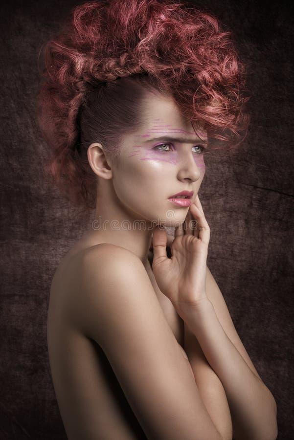 De mooie Vrouw van de Rots stock fotografie