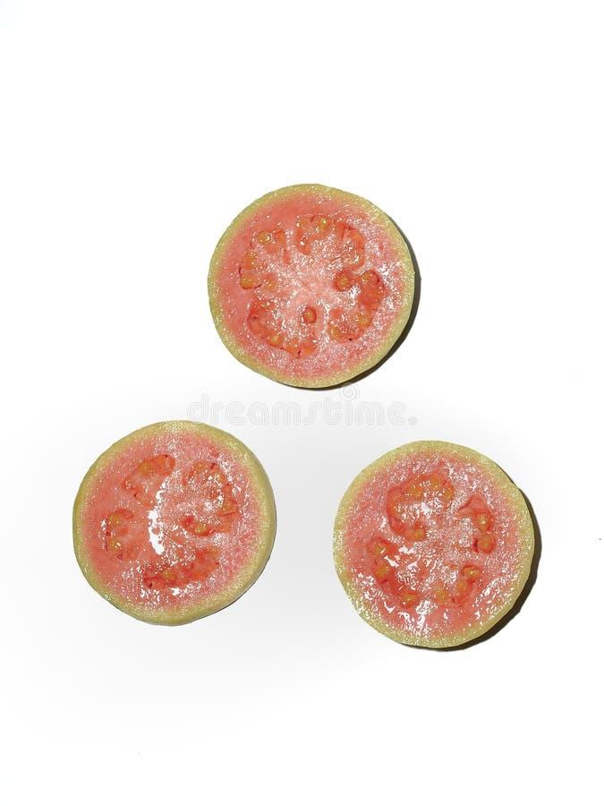 De mooie vruchten van de lay-out rode guave royalty-vrije stock afbeeldingen