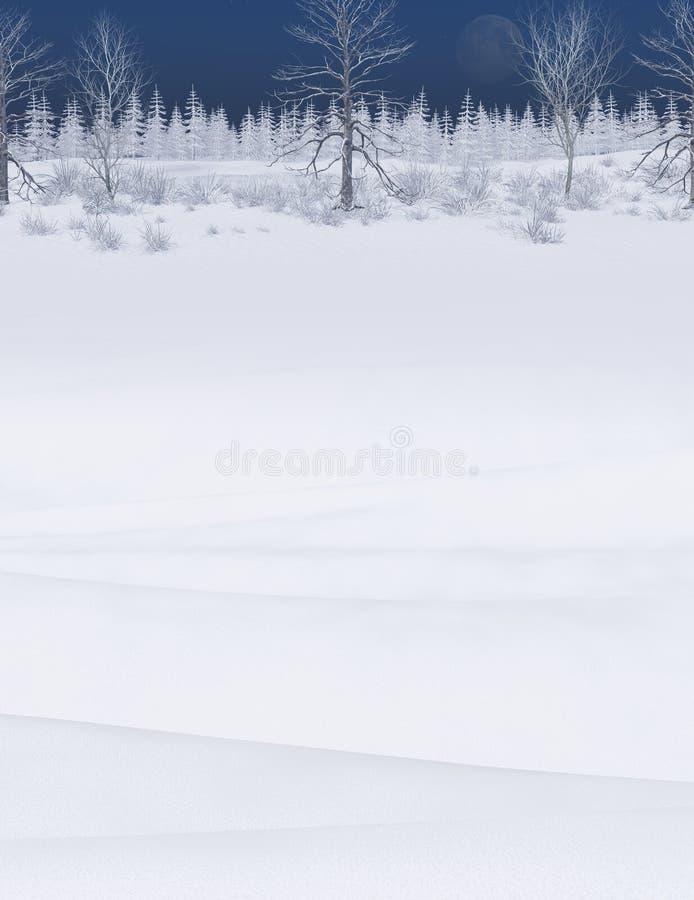 De mooie Winter Forest Landscape Background royalty-vrije stock afbeelding