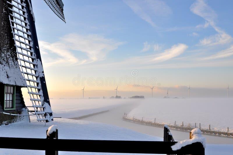De mooie winter in Holland royalty-vrije stock fotografie