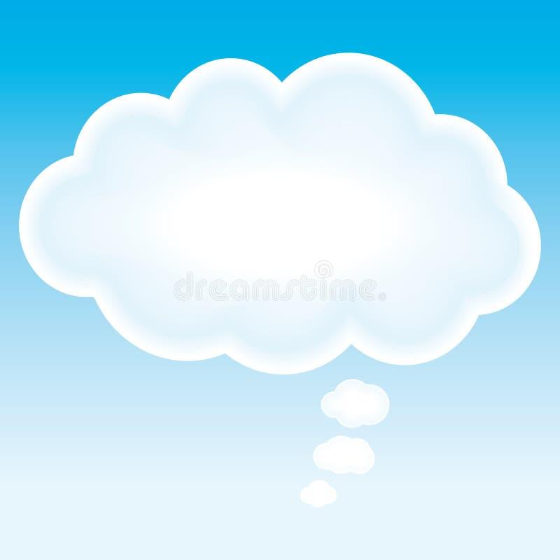 De mooie wolk denkt bel. stock illustratie