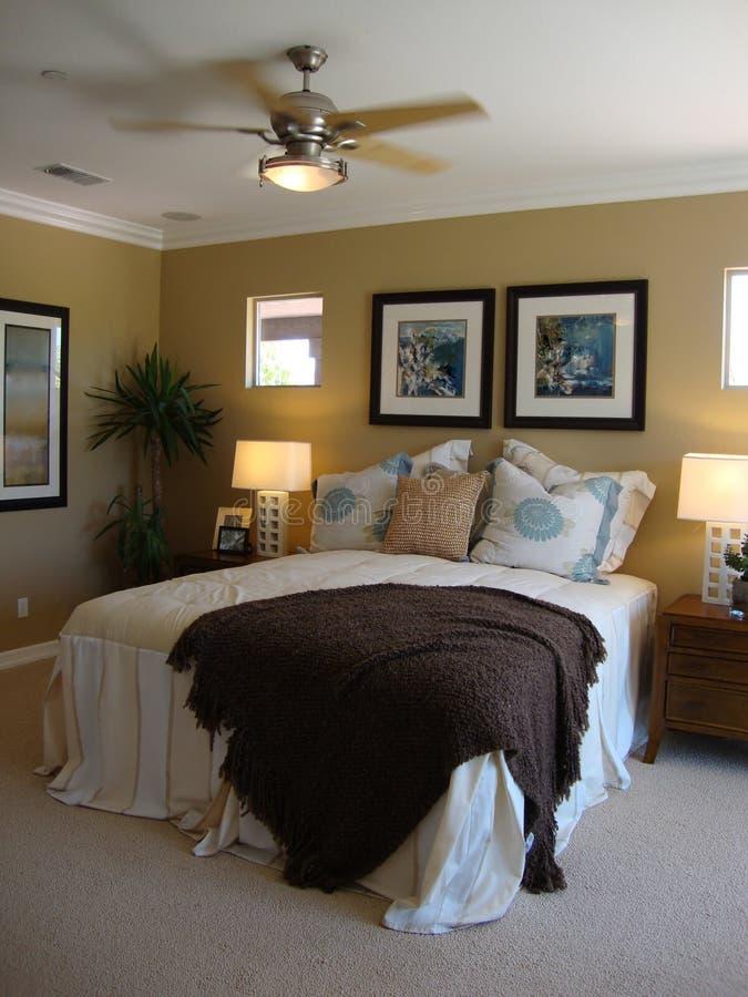De mooie Zaal van het Bed royalty-vrije stock afbeeldingen