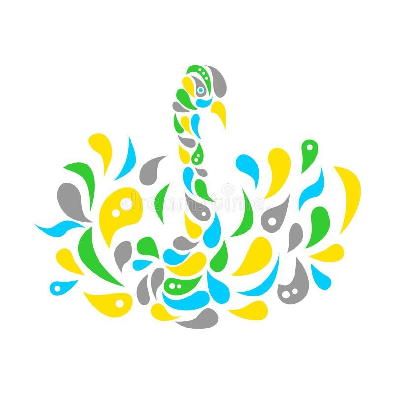 De mooie zwaan vector illustratie