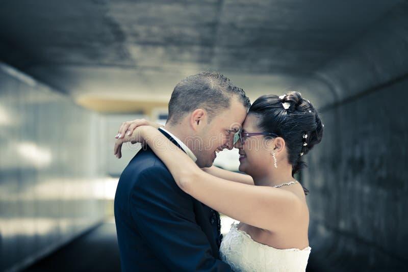 De mooiste dag in het leven - het huwelijk stock foto's