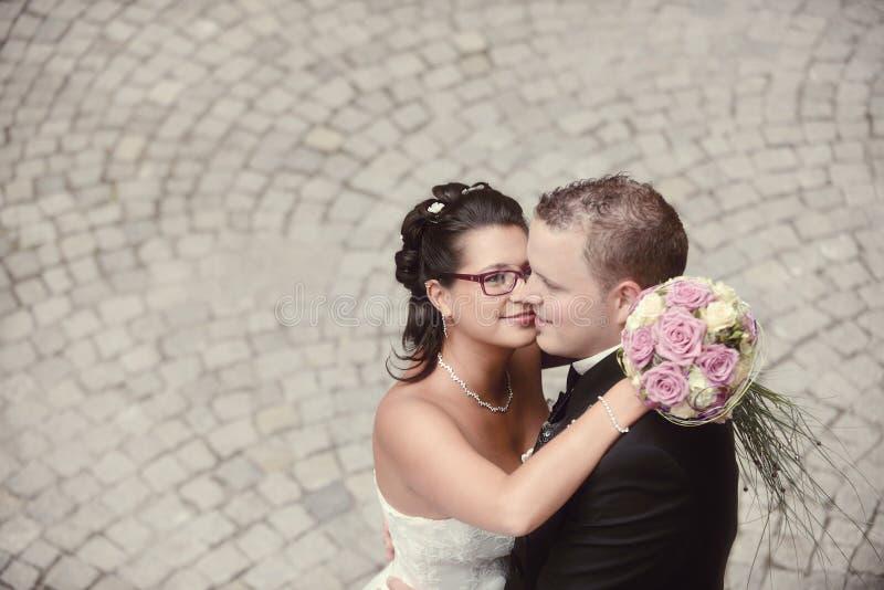 De mooiste dag in het leven - het huwelijk stock fotografie