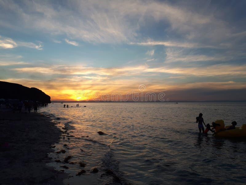 De mooiste zonsondergang van de wereld royalty-vrije stock afbeelding