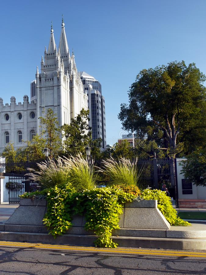 De Mormoonse Tempel van Salt Lake City, Utah royalty-vrije stock foto