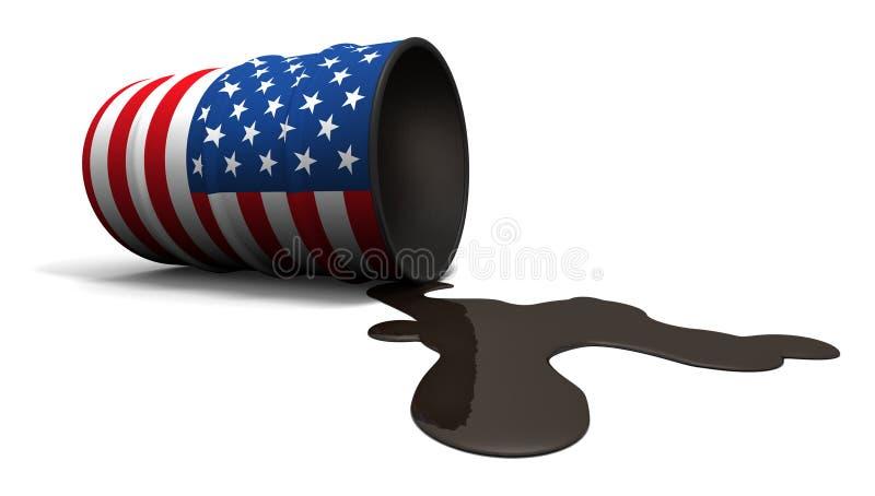De morserij van de olie van Amerikaanse trommel stock illustratie
