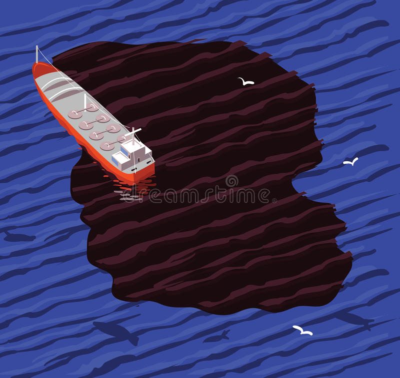 De morserij van de tanker en van de olie vector illustratie