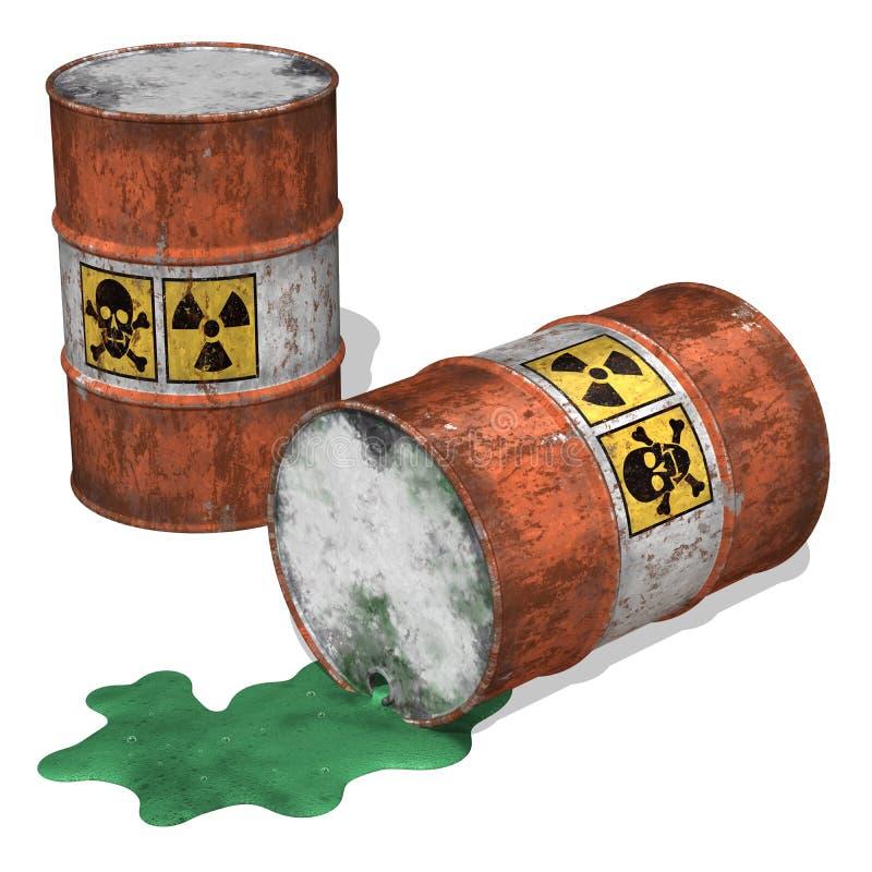 De Morserij van het giftige Afval vector illustratie