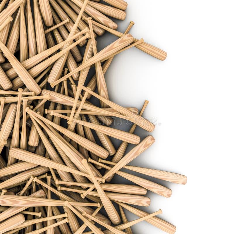 De morserij van honkbalknuppels stock illustratie