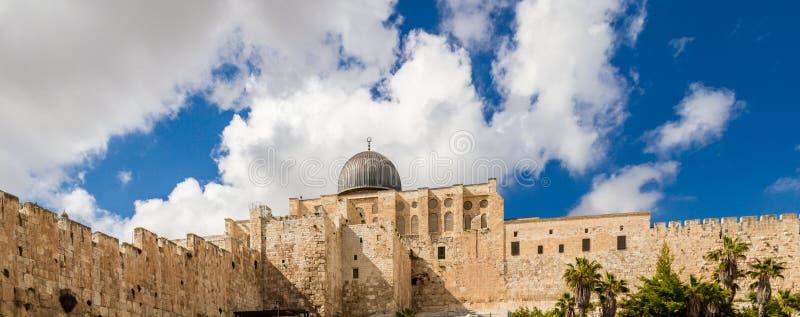 De Moskee 4 April, 2015 van Israël, Jeruzalem al-Aqsa royalty-vrije stock afbeelding