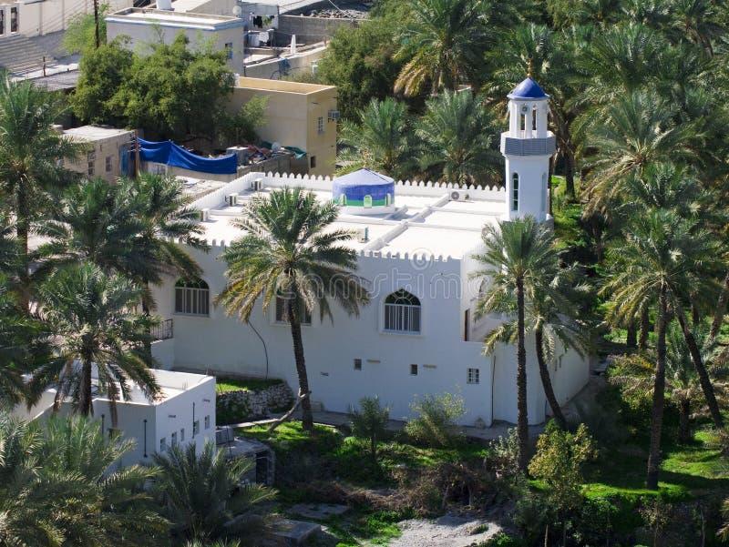 De moskee in dorp Bilad Sayt stock fotografie