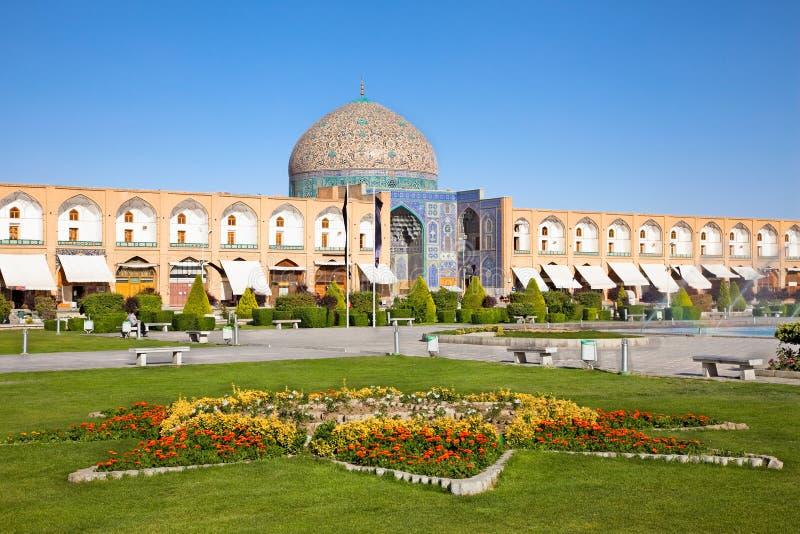 De moskee Esfahan, Iran van Lotfollah van de sjeik stock foto
