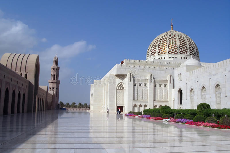 De Moskee Oman van Qaboos van de sultan royalty-vrije stock afbeeldingen