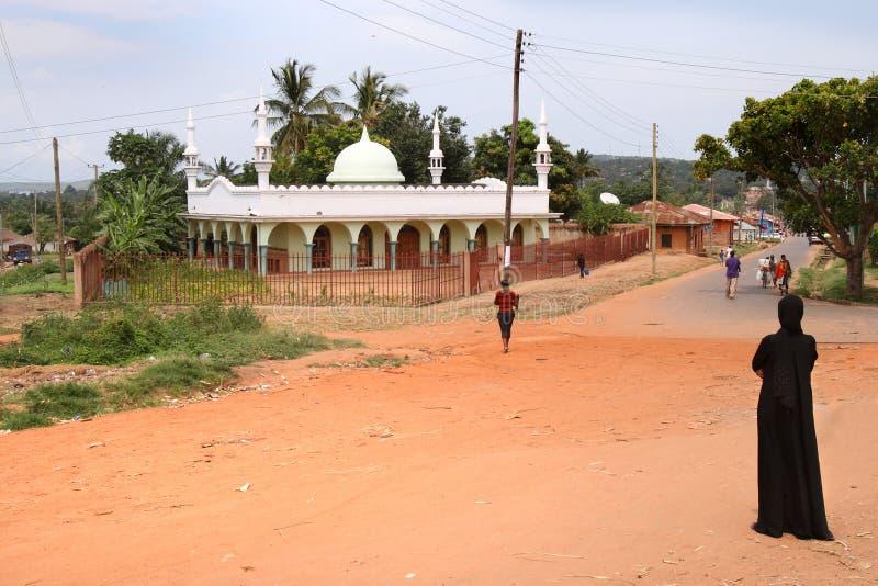 De moskee in Ujiji, Tanzania royalty-vrije stock afbeeldingen
