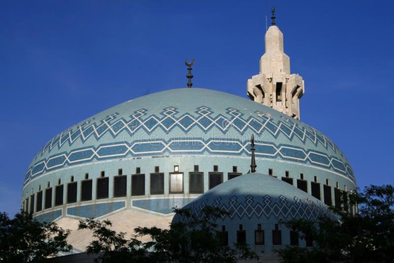 De Moskee van Abdullah van de koning in Amman stock foto's